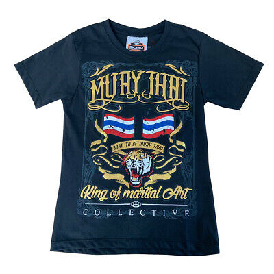 Born To Be Kids Muay Thai Tiger T-Shirt Casual Kick Boxing Fight Thai Boxing