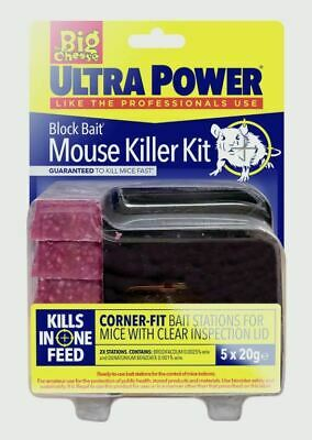 The Big Cheese Ultra Power Block Bait Mouse Killer Station Refills