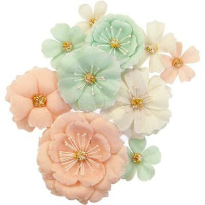 NEW Prima Marketing - Mulberry Paper Flowers - Blush & Mint/Apricot Honey