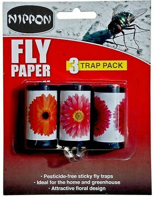 Nippon Fly Papers Pack 3  Glue Traps 5NFWP3