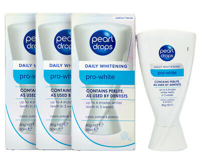 3 x Pearl Drops Pro White Daily Whitening 80g