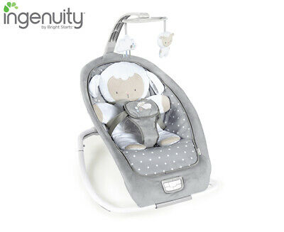Ingenuity Boutique Collection Rocking Seat Baby Bouncer - Cuddle Lamb