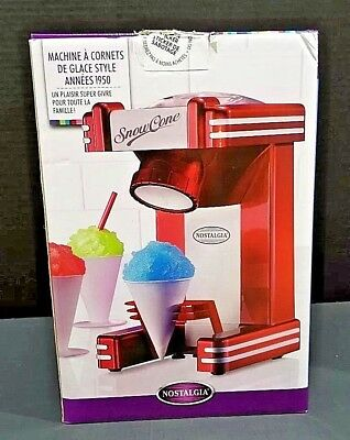 Nostalgia RSM702 Single Snow Cone Maker USA Seller CLB