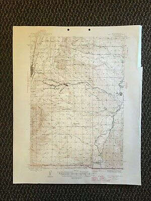 Vintage USGS Red Lodge Montana Wyoming 1946 Topographic Map