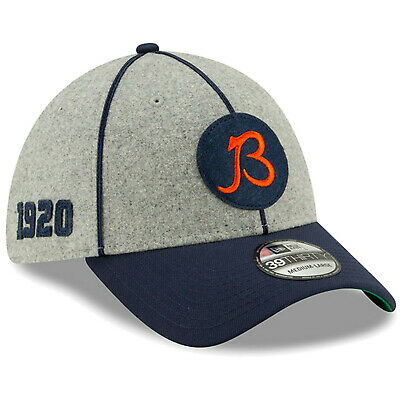 2019 Chicago Bears New Era 39THIRTY NFL Sideline Home On Field Cap Flex Hat 1920