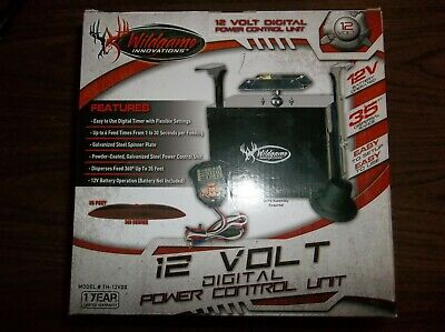 Wildgame Innovations TH-12VDX Digital Power Control Unit for Game Feeder