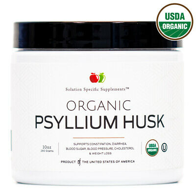 Organic Whole Psyllium Husk Powder - Pure Psyllium Seed Fiber Powder