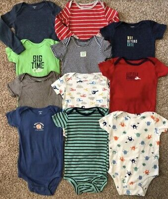 Baby Boy 18 24 Mo Lot Bodysuits Shirts Tee Outfits Carter's Short Long Sleeved