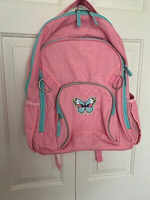 Pottery Barn Girls Fairfax Backpack, Large, Pink, Butterfly, NWOT