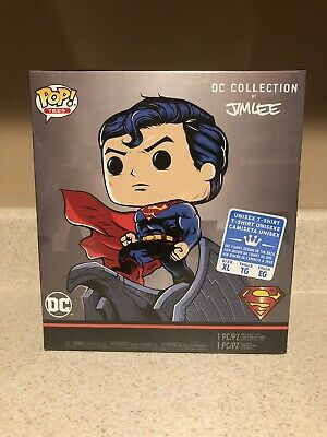 Funko Pop & Tee Superman DC Comics XL T-Shirt Deluxe Box By Jim Lee Still Sealed