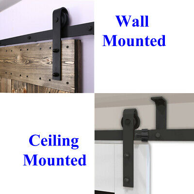 4FT-20FT Sliding Barn Door Hardware Closet Track Kit Single/Double/Bypass Doors