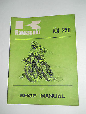 Kawasaki  Kx250 Shop  Manual