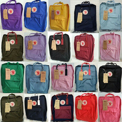 7L/16L/20L Brand Unisex Fjallraven Kanken Travel Backpack Shoulder School Bags
