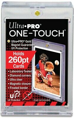 1 ULTRA PRO One Touch Magnetic Holders 260pt UV Gold Magnet New 260 pt point
