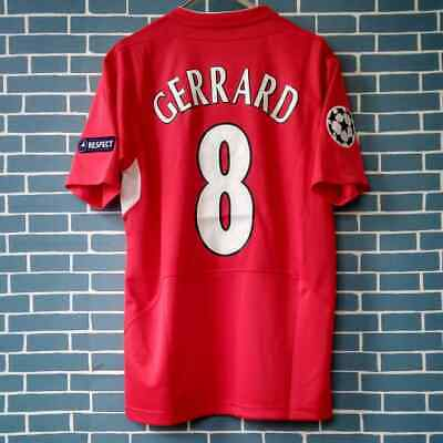 Gerrard # 8 Liverpool - Retro -  2004/05 Champions Home Shirt - S M L Xl