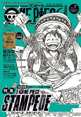 ONE PIECE Magazine Vol.7 Anime Eiichiro Oda STAMPEDE / WANTED Usopp Japan