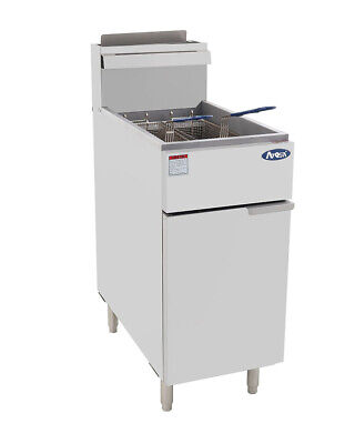 CookRite 3 Tubes Gas Deep Fryer Standing Deep Fryers