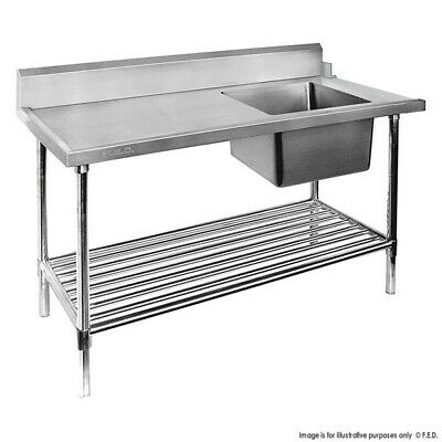 Modular Systems Right Inlet Single Sink Dishwasher Bench 700D