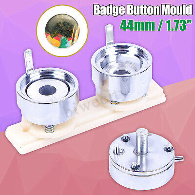 "44mm 1.73"" Badge Pin Making Mould Button Maker Punch Press Machine Metal DIY"