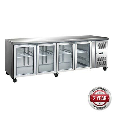 Thermaster Gastronorm 4 Glass Door Bench Fridge