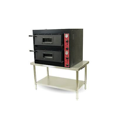 Bakermax Standard Series Black Panther Pizza Double Deck Oven