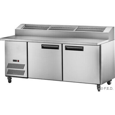 Thermaster 7 X 1/3 Pan 550L Deluxe Pizza Prep Bench With Two Door