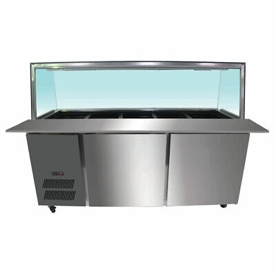Thermaster Chilled 4x1/1 GN Pans Bain Marie With Double Door