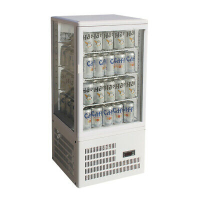 Thermaster Four-Sided 78L Countertop Display Fridge White