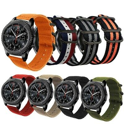 22mm Multicolor Fashion Canvas Nylon Sports Strap Bands  For Samsung Gear S3