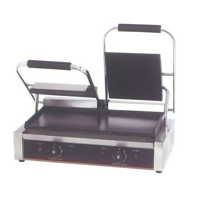 Benchstar Electric Contact Grill Double Top Grooved and Bottom Flat