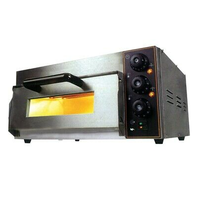 Bakermax Electric Pizza Oven Single Deck With Analogue Timer