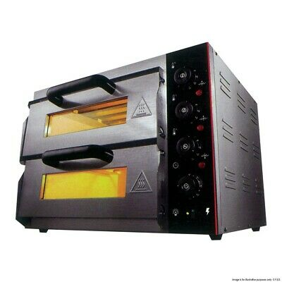 Bakermax Electric Pizza Oven Double Deck With Analogue Timer