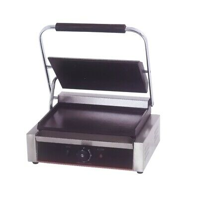 Benchstar Electric Contact Grill Single Top Grooved And Bottom Flat