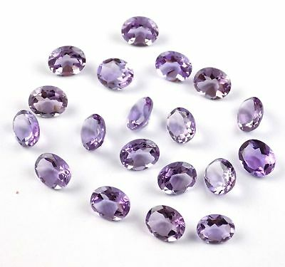 Wholesale Lot 10 Pieces Natural Amethyst Oval 9x11mm Normal Cut Loose Gemstone