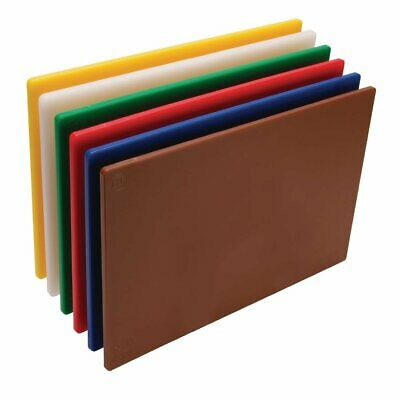 "Hygiplas Low Density Chopping Boards - 18x12x1/2"" (Set 6)"