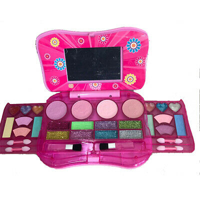 Princess Makeup Set Toy For Kids Cosmetic Girls Kit Eyeshadow Lip Gloss Blushes