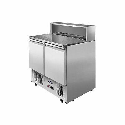 Atosa Two Doors Pizzatable Marble Top Saladette