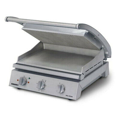 Roband Grill Station 8 slice, ribbed top plate, 13 Amp