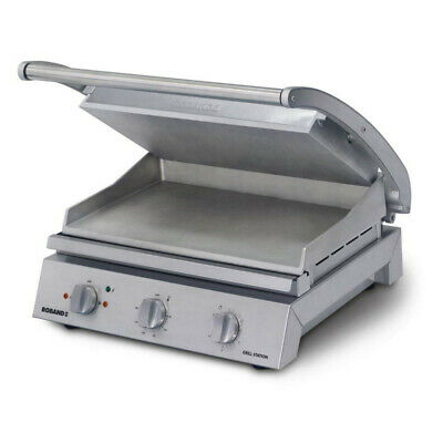 Roband Grill Station 8 slice, smooth plates, 13 Amp
