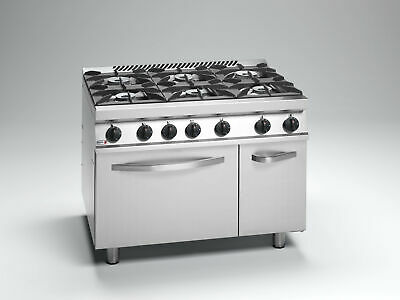 Fagor Cook Top with Gas Oven and Neutral Cabinet Under 700 Series 6 Burners NG