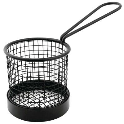 Olympia Presentation Basket Black with Handle - 80 Die x 80mm H