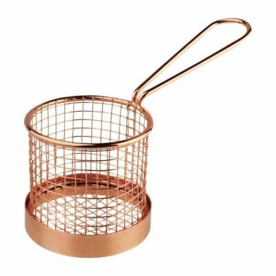 Olympia Presentation Basket Copper with Handle - 80 Dia x 80mm H