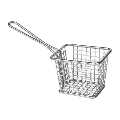 Olympia Square Presentation Basket St/St 80(H)x100(W)x80(D)mm