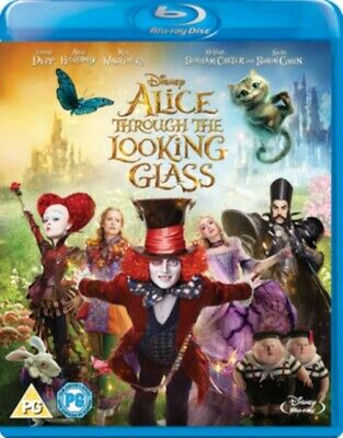 Alice Through the Looking Glass (DISNEY) (BLU-RAY, 2016) *NEW/SEALED* FREE P&P