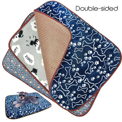 Dog Cooling Mat Warm Fleece Pet Dog Cushion Kennel Blanket Crates Sleeping Bed