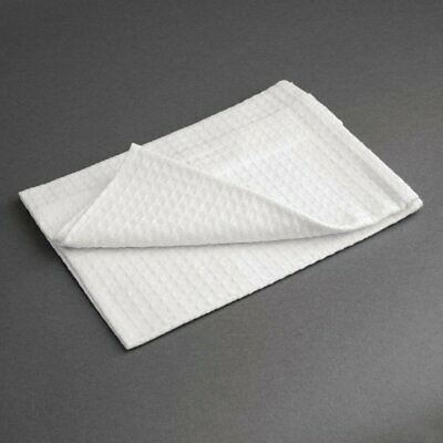 Cloths White Honeycomb Weave - 762x508 mm (Pack 10) Vogue|