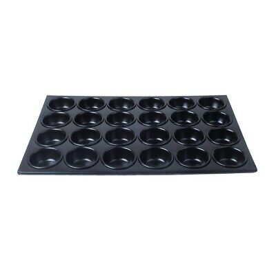 Vogue Aluminium Muffin Tray 24 Hole Non Stick - cup size 80x35mm