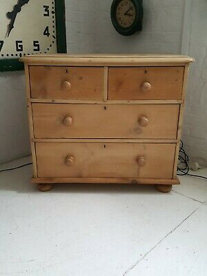 Antique Victorian Country Farmhouse Pine Chest of Drawers