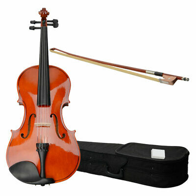 """16"""" Basswood Beginners Acoustic Violin Set with Case Bowith Case Bow Rosin"""