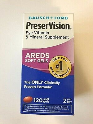 Bausch+Lomb - Preservision Areds - 120 Soft Gels - EXP:09/19 or later